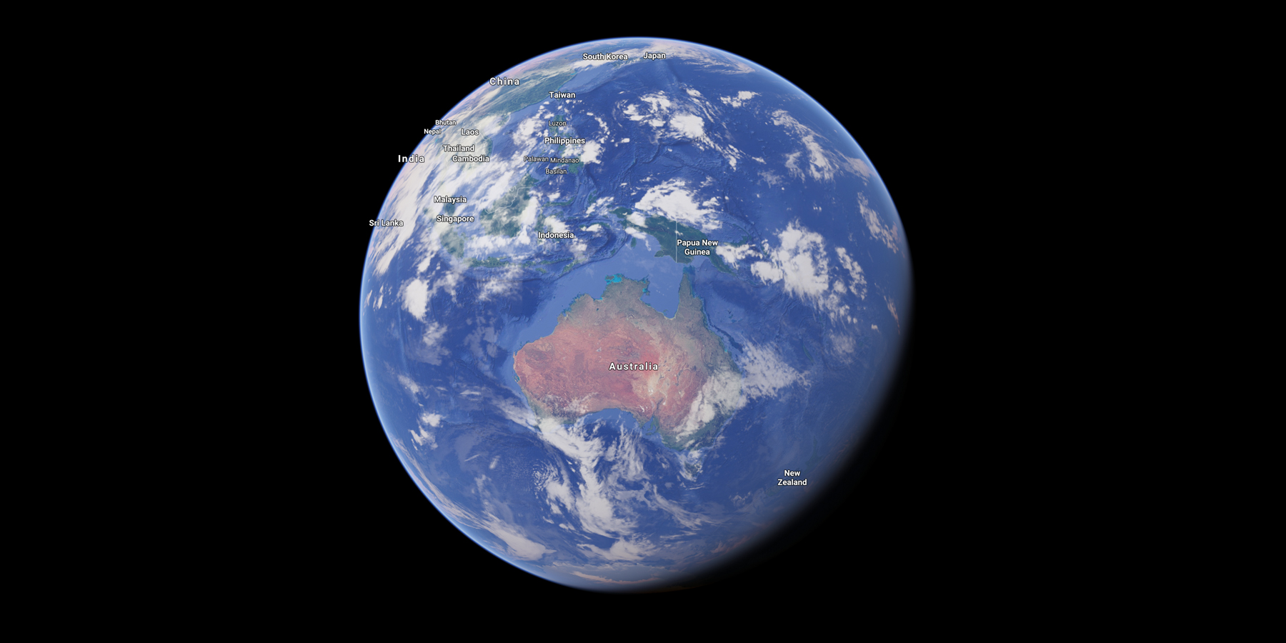 Satellite image of Australia, Source: Google Maps